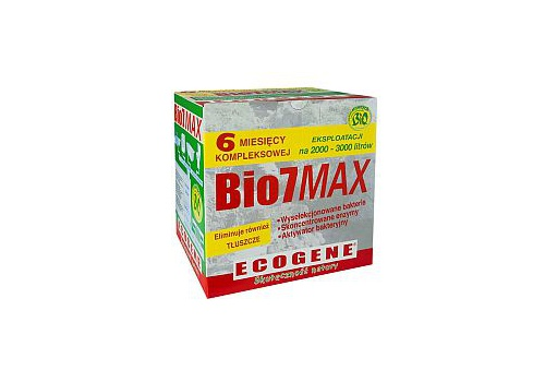 Bio7 MAX 1kg - Bakterie do oczyszczalni na pół roku