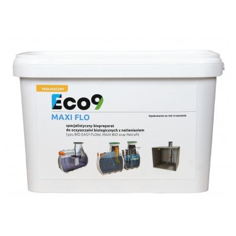 Eco9 MAXI FLO  - Bakterie do oczyszczalni tlenowych NA ROK